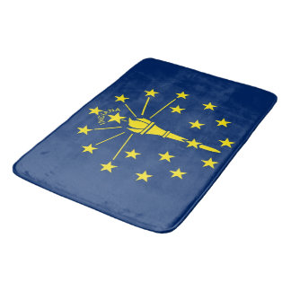 Large bath mat with flag of Indiana, USA