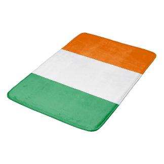 Large bath mat with flag of Ireland