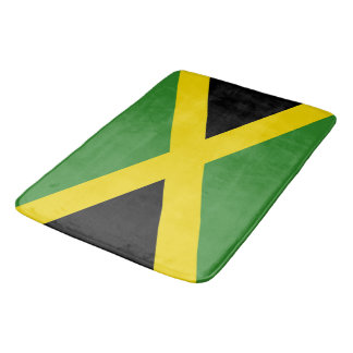 Large bath mat with flag of Jamaica