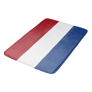 Large bath mat with flag of Netherlands