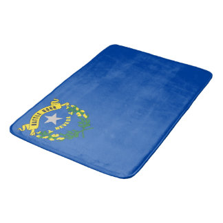 Large bath mat with flag of Nevada, USA