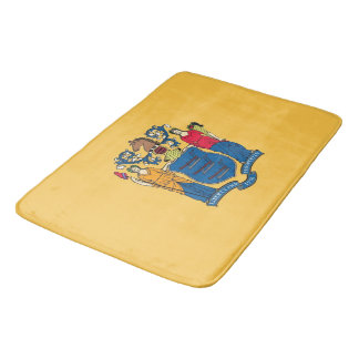 Large bath mat with flag of New Jersey, USA