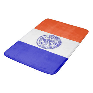 Large bath mat with flag of New York, USA