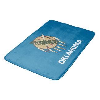 Large bath mat with flag of Oklahoma State, USA