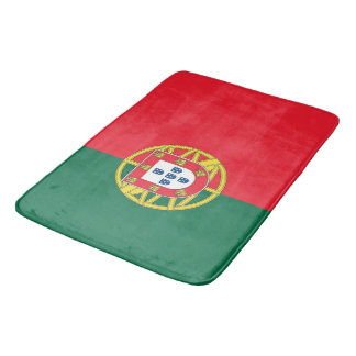 Large bath mat with flag of Portugal