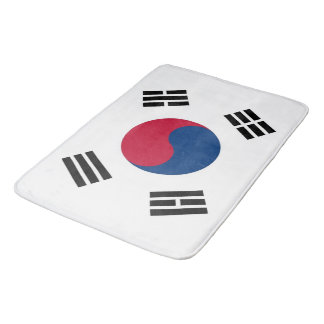 Large bath mat with flag of South Korea