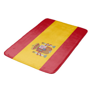Large bath mat with flag of Spain