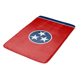 Large bath mat with flag of Tennessee, USA
