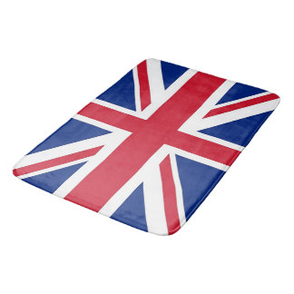 Large bath mat with flag of United Kingdom