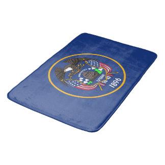 Large bath mat with flag of Utah, USA