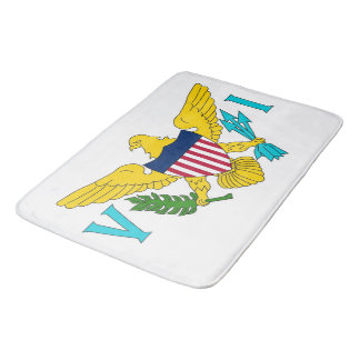 Large bath mat with flag of Virgin Islands, USA