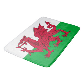 Large bath mat with flag of Wales