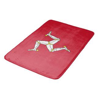 Large bath mat with Isle of Man flag, UK