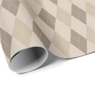Large Beige Tones Argyle Wrapping Paper
