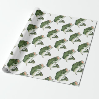 Large Big Mouth Bass Wrapping Paper