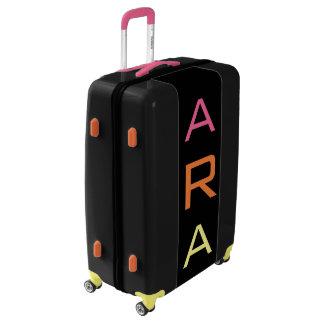 LARGE Black+Pink+Orange+Yellow Monogram Luggage