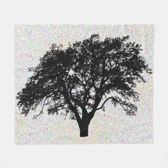 Large Black Tree Print Design Fun Fleece Blanket
