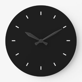 Large Black Wall Clock (Round)