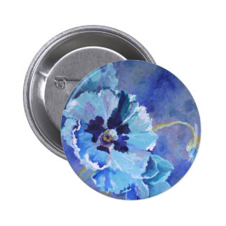 Large Blue Poppies Pin