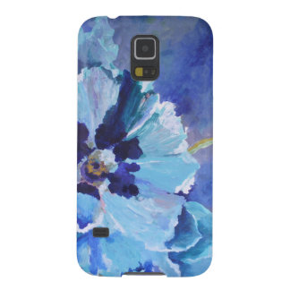 Large Blue Poppies Case For Galaxy S5