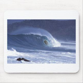Large blue surf wave Sumba Mousepads