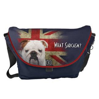 Large British Union Jack Flag. What Sarcasm? Messenger Bag