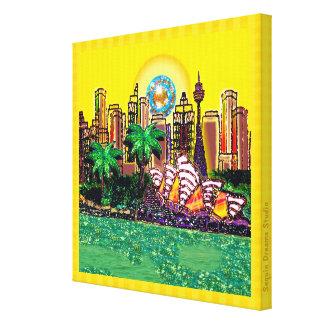 Large Canvas | Sydney Opera House (Yellow) Canvas Print