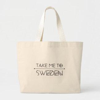 Large case marks Take me to Sweden Large Tote Bag