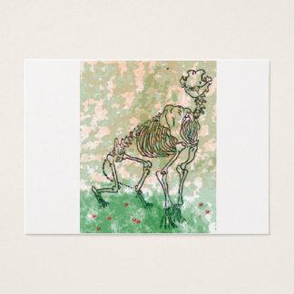 large Cat skeleton nature Business Card