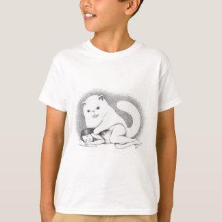 Large cat tee shirt