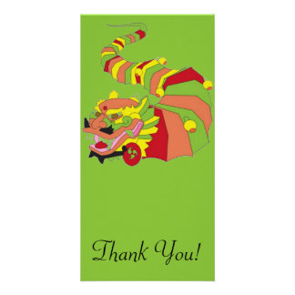 Large Chinese Dragon Personalised Photo Card