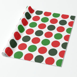 Large Christmas Polka dots wrapping paper