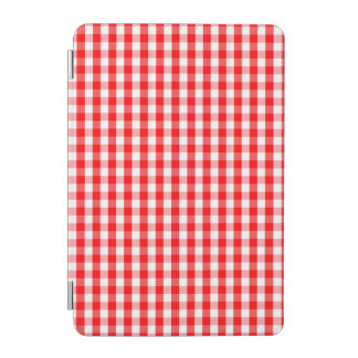 Large Christmas Red and White Gingham Check Plaid iPad Mini Cover