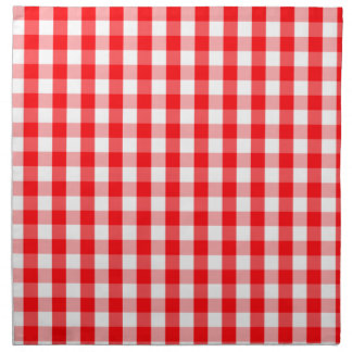 Large Christmas Red and White Gingham Check Plaid Napkin