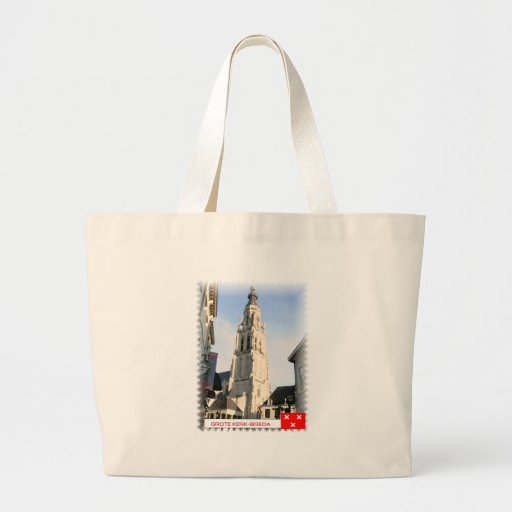 Large church, Breda, the Netherlands Canvas Bag