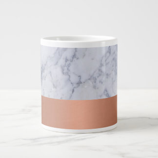 Large Coffee Mug in Marble and Copper