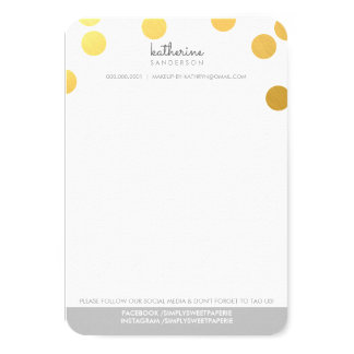 LARGE CONFETTI SPOT modern bold gold foil grey Card