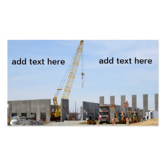 large construction crane for a new warehouse pack of standard business cards