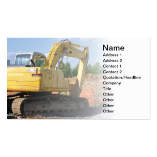 large construction equipment pack of standard business cards