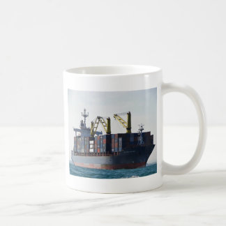Large Container Ship At Anchor Mugs