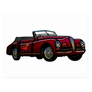 Large Convertible Classic Car Postcard
