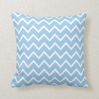 Large Cornflower Blue Chevron Pillow