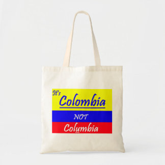 Large cotton Tote Bag Colombia NOT Colunbia