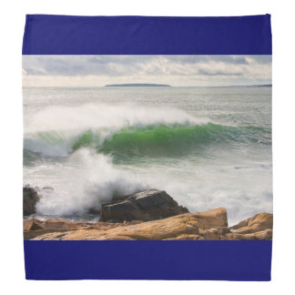Large Crashing Waves Seascape Acadia National Park Bandana