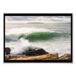 Large Crashing Waves Seascape Acadia National Park Photo