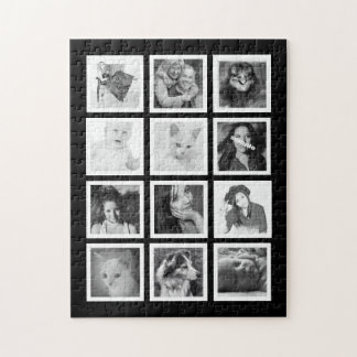 Large Custom Puzzle with 12 of Your Photos