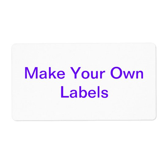 Large Customisable Labels