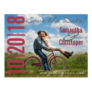 Large Date Photo - Save the Date postcards