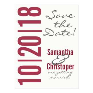 Large Date - Save the Date postcards