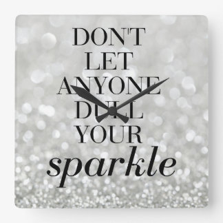 Large Decorative Wall Clock Sparkle Quote